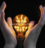 A19 chauffent la lumière étoilée légère décorative blanche de feu d'artifice d'ampoule