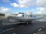 Liya 8.3m de pesca de fibra de vidrio Panga costilla a la venta de barco de pasajeros
