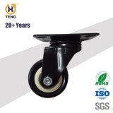 1.5 '' 2 '' 2.5 '' schwarzes Kurbelgehäuse-Belüftung oder PU auf weißer pp.-Kern-Fußrolle mit verlegtem Stamm und Bremse