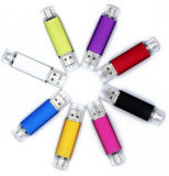 Новый USB 16GB Pendrive OTG Smartphone сотового телефона отпечатка логоса прибытия внезапный
