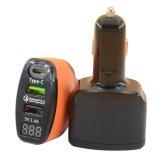 Двойной автомобильного зарядного устройства USB с Тип C и QC 3.0