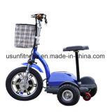 самокат пожилой удобоподвижности колеса 500W 3 электрический с Ce