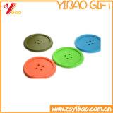 Самая дешевая циновка чашки Silicome с изготовленный на заказ текстом (YB-CM-10)