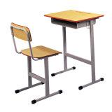 서랍과 Schoolbag 훅을%s 가진 현대 간단한 판 학교 의자