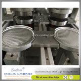 Doces abertos da segurança, extremidades do cilindro dos petiscos que fazem a máquina