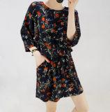 2018 neue Floral Beiläufiges elegantes Dame-Kleid