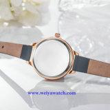 가죽끈 여자 석영 Wist 시계, 숙녀의 시계 OEM 서비스 (WY-17023)