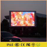 El doble echó a un lado visualización video al aire libre de la prueba LED del agua