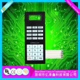 Teclado numérico de tinta conductora de interruptor de membrana