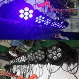 Testa mobile girante del fascio della lavata 7X10W del LED