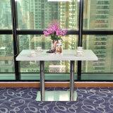 Restaurante personalizadas mesa de jantar com material de madeira e pedra