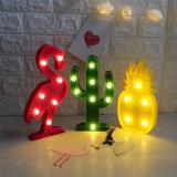 3D LED Shine Flamingo Ananas-Weihnachtsraum verzieren Nachtlicht