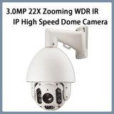 de Camera van de Veiligheid PTZ van kabeltelevisie van de Koepel van de 3.0MP22X IP Hoge snelheid