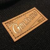 Logotipo feito sob encomenda etiqueta de couro gravada do Tag do plutônio para vestuários e calças de brim