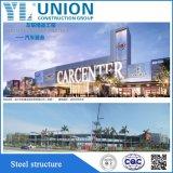 中国のプレハブの鋼鉄作業か鉄骨構造のガレージ車の店