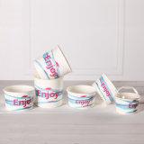 El papel de colores tazas de helado de yogur Tazón de papel
