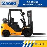 Gasolina de XCMG 3ton y carretilla elevadora del LPG con la rotación lateral