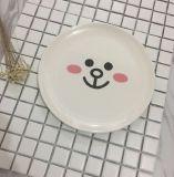 Placa de bambu reusável impressa biodegradável da melamina da fibra dos pratos