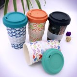 Tazza di caffè di bambù biodegradabile ecologica della fibra di Resuable di marchio su ordinazione (YK-BC4134)