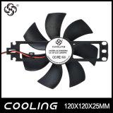 120x120x25mm Bladeless Ventilador, DC 12V/18V Aluminio Fan 120mm, chaleira eléctrica, frigorífico Ventilador 12025 do Ventilador
