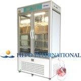Instrumentos de laboratorio médico y una temperatura constante de iluminación y cámara de crecimiento
