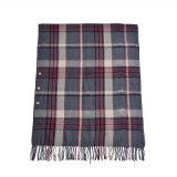 雪の印刷の冬の暖かい厚く編まれた編まれたスカーフのショール(SP269)のような女性のアクリルの可逆カシミヤ織