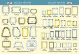 Inarcamento quadrato in lega di zinco del nichel per il sacchetto