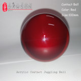 100mm Dsjuggling acrílico rojo Magic Ball Bola Malabares de contacto