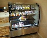 Chocolade en Cake Gekoelde Showcase met de Voorzijde van het Glas