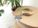 Fabriek 925 van China van de Juwelen van de ontwerper Echte Zilveren Ring met de Schijf van de Ster