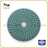 """4 """" insieme stridente schiavo del disco del pavimento della resina asciutta bagnata di pietra concreta di marmo flessibile del granito dei tamponi a cuscinetti per lucidare 50# del diamante"""