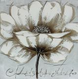 خاصّ بالأزهار صورة زيتيّة فنّ - نوع خيش جدار فنية مع تلألؤ