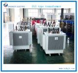 Rame della strumentazione della centrale elettrica che avvolge il trasformatore a bagno d'olio del trasporto di energia