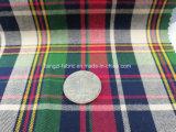 Tela listo el 100% de los hilados de algodón teñido de sarga verificar Fabric-Lz7155