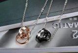 Het hete Staal van het Titanium van de Juwelen van het Paar van de Verkoop nam de Gouden en Zwarte Halsband van Minnaars & Juwelen van de Mannen van de Vrouwen van de Giften van de Minnaars van Tegenhangers de Beste toe