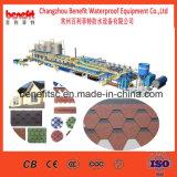 Linha de produção da telha do asfalto de Colorized, maquinaria da telha do telhado do asfalto