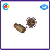 Tornillos redondos Zinc-Plated galvanizados antirrobo no estándar de la mano del destornillador