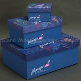 Het Verpakkende Vakje van de Gift van het Document van de flamingo, het Vakje van de Grootte van de Douane met de Zak van de Gift