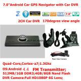 """Dash baratos alquiler de carretilla Marine, navegación GPS con Android 7.0"""" GPS para coche DVR, transmisor de FM, AV de la Cámara de aparcamiento Sistema Navegador GPS Dispositivo de seguimiento, el Tmc"""