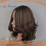 Parrucca europea dei capelli umani di colore 100% del Brown (PPG-l-0497)