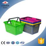 Panier en plastique du marché de traitement de paniers à provisions d'épicerie