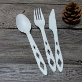 O BPI Certificated o jogo Compostable da cutelaria do PLA do Flatware biodegradável de 100%