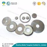 Высокая точность пользовательских карбида вольфрама круглого ножевого полотна, диск режущего аппарата