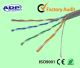 Prueba del paso del conductor del CCA del cable de LAN de UTP Cat5e