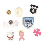 Distintivo rotondo su ordinazione di Pin di metallo di sicurezza dei regali promozionali di buona qualità, distintivo di Pin dello stagno, distintivo del tasto