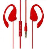 Sweatproof verdrahteten Earhook Sport-Kopfhörer mit Mikrofon und Fernsteuerungs in der Kabel-Zeile mit Cer-Bescheinigung für Training, Runing, Sport- und Gymnastik