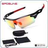 Gafas de sol Sporting al aire libre azules de la lente UV400 de la visión de encargo de la marca de fábrica HD de la fábrica