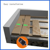 Decking compuesto plástico de madera que se enclavija de alta resistencia del precio de fábrica con diversos granos de madera