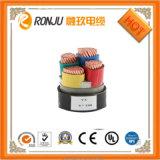 медная изоляция PVC проводника 450/750V, оболочка PVC, заплетенный защищаемый гибкий кабель системы управления