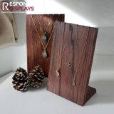 جذّابة تصميم عدّاد طاولة خشبيّة مجوهرات عرض حامل قفص